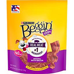 Snack para perro Beggin tocineta carne  x 170 gr