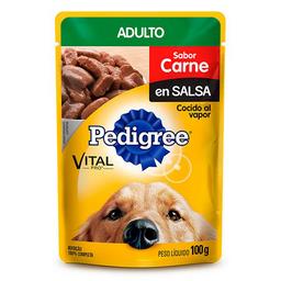 Pouche Perro Pedigree Adulto Carne 100 Gr