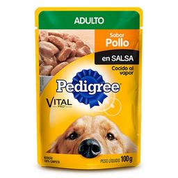 Pouche Perro Pedigree Adulto Pollo 100 Gr