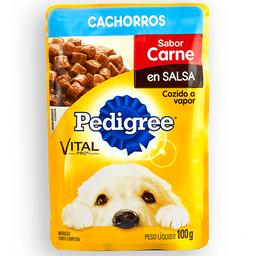 Pouche Perro Pedigree Cachorro Carne 100 Gr