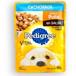 Pouche Perro Pedigree Cachorro Pollo 100 Gr