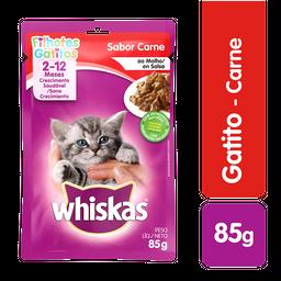 Pouche Gato Whiskas Gatitos Carne 85 Gr