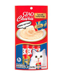 Snack Gato Churu Cremoso Atun Y Vieira 56 Gr