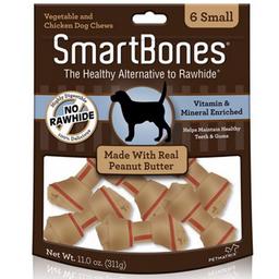 Snack Smartbones Peanut Butter Small 6 Piezas