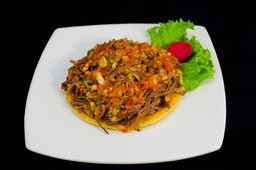Arepa Carne Desmechada