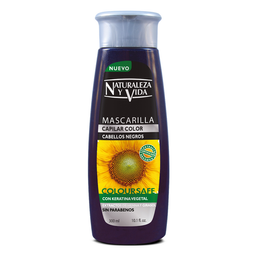 Mascarilla Capilar coloursafe negro