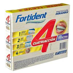 Crema dental cuatriacción