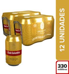 Cerveza Club Colombia Dorada - Lata 330Ml X12