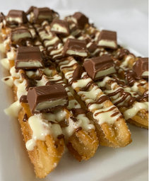 Churros Chocolate Blanco, Nutella, Kinder