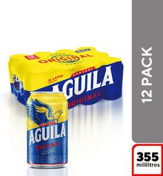 Cerveza  Aguila  Display X12 Latas 355 Ml