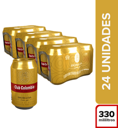 Cerveza Premium  Club Colombia Dorada  Bandeja X24