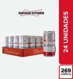 Cerveza  Budweiser  Bandeja X24 Latas 269 Ml