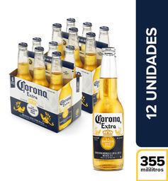 Cerveza  Corona  Display X12 Botellas 355 Ml