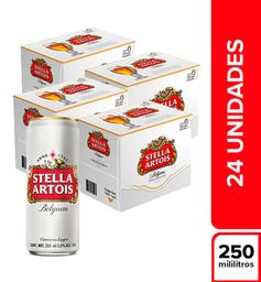 Cerveza  Stella Artois  Bandeja X24 Latas 250 Ml
