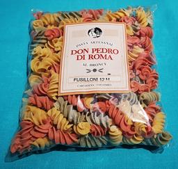 Pasta Artesanal Fusilloni tres colores