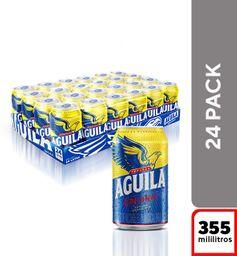 Cerveza Aguila original en lata 355 ml X 24 und