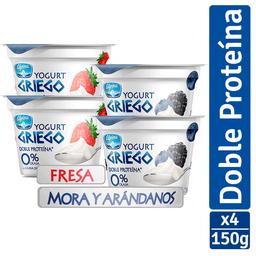 Yogurt Alpina Griego Multisabor Vaso 150 g x 4