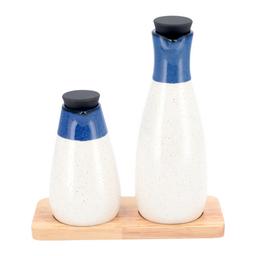 Alcuza Ceramica Con Base Madera