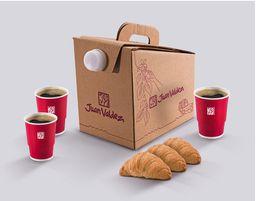 Combo Caja Cafetera y Croissants