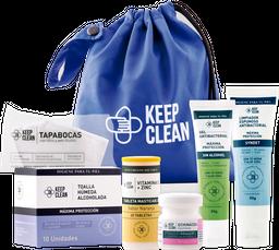 Kit personal con gel antibacterial libre de alcohol y tapabocas