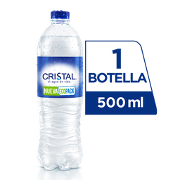 Agua Cristal Sin Gas 500 ml