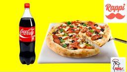 Promoción de pizza mediana