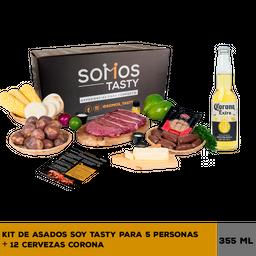 Asado Soy Tasty (5 Personas) + 12 U Cerveza Corona 355 mL