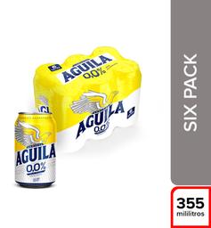 Cerveza  Aguila Cero  Pack X6 Latas 355 Ml