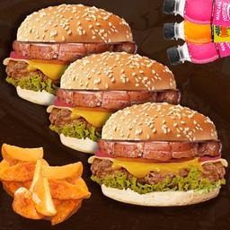 3 Combos Chanchi Burger