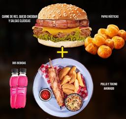 Combo Chanchi Burger y Chuzo