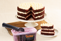 Cake Red Velvet con Helado
