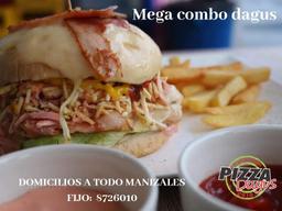 Combo: Hamburguesa Mega Dagus + Papa