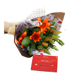 Bouquet de Lirios con chocolates