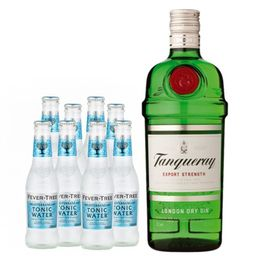 Combo Tanqueray London Dry + 8 Fever Tree Meediterranean