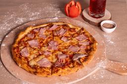 Pizza con Jamón y Queso