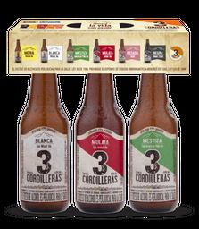 3 Cordilleras Cerveza Artesanal 3 Pack Surtido