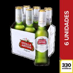 Cerveza Stella Artois Six Pack 6 U