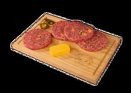 Hamburguesa Queso Cheddar Y Jalapeños 150 g x 4
