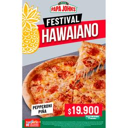Pizza Mediana Pepperoni Piña.