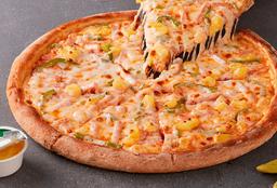 Pizza Familiar de Hawaiana con Pimentón Verde