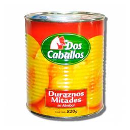 Duraznos en Almibar Dos Caballos 820 g