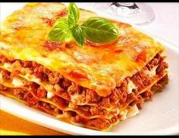Lasagna de carne de res