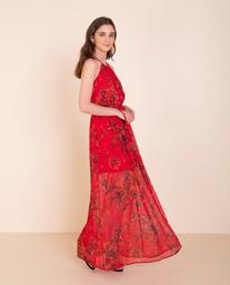 Vestido Floral Rojo Estampado