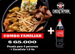 COMBO FAMILIAR + COCA COLA