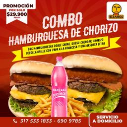 Doble Combo Hamburguesa Chorizo