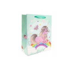 Bolsa de regalo Unicornio color verde pastel