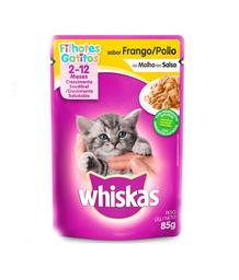 Whiskas comida húmeda pollo gatito sobre 85g