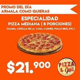 Promo en Pizza Mediana 8 porciones
