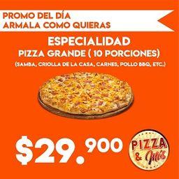 Promo en Pizza Grande 10 Porciones