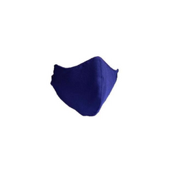 1 tapabocas lavables antifluidos en color azul oscuro